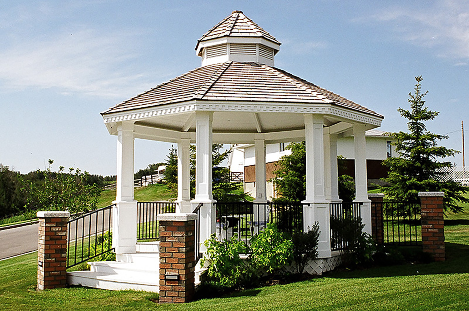 A Gazebo constructed in Calgary landscaping project