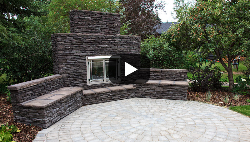 watch video on Landscaping Services - Outdoor Fireplaces