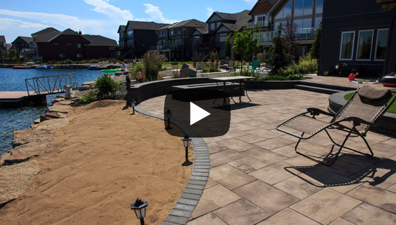 Watch before and after photos from this beachfront landscaping project in Auburn Bay