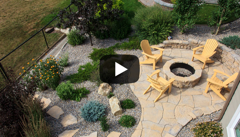 Watch before and after photos from this low maintenance landscaping transformation in Auburn Bay