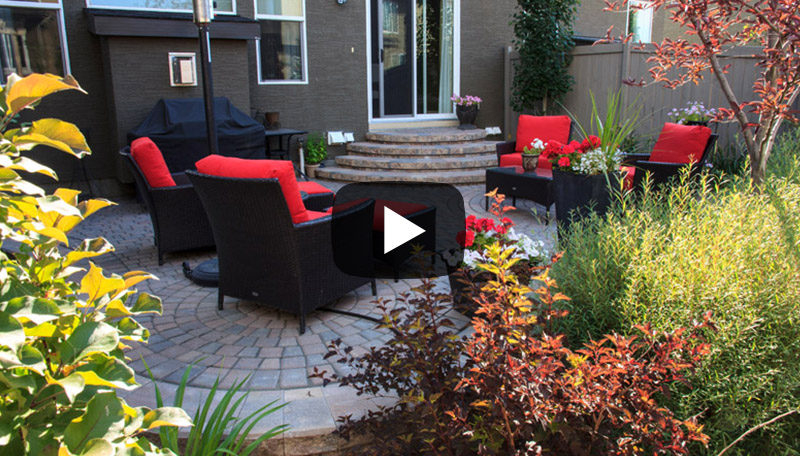Watch before and after photos of this Calgary small garden landscaping transformation