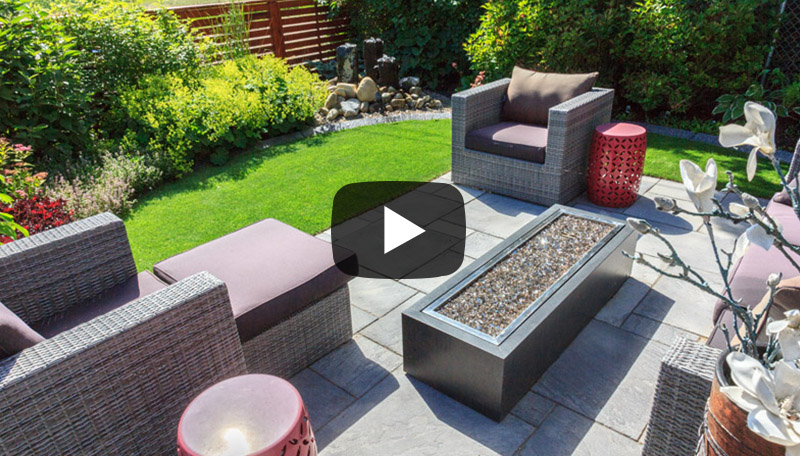 View this modern outdoor living space in Winston Heights