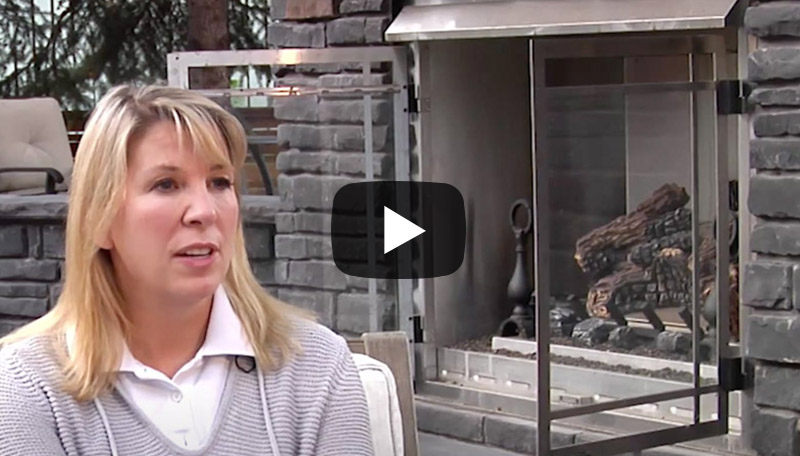 Our Elbow Park customer talks about her yard which had features such as an outdoor fireplace and had privacy as an important focus for the landscaping
